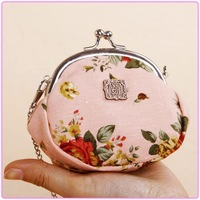 free shipping vintage women's coin purse lady wallet  classic rose  series   bulk of money  portable   portable    bag