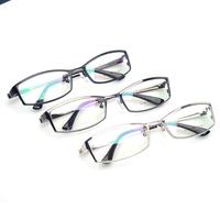 100% Pure Titanium Mens eyeglasses wholesale top quality glasses men full rim toughness optical frames with case (120515)