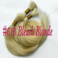 Factory Direct Selling vietnamese 100% human hair bulk extension#613 Bleach Blonde 100g/pc