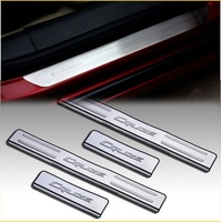 Stainless steel Door Sill Scuff Plate TRIM Chevrolet for 09 10 11 12 CHEVY CRUZE free shipping