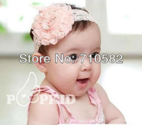 10pcs /lot Free Shipping hot sale Infant Baby Toddler Big flower broad stretch headbands hair bands for girls