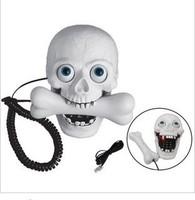 Creative corded telephone  home phone novelty   skull shape telephone wired landline telephone