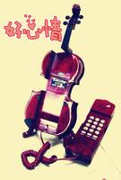 Innovative home telephone novelty phone cartoon tViolin telephone fashion landline telephone corded telephone creative