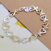 Free Shipping Fashion Bracelet Silver Jewelry jewellry 2014 Charm Tag Chain Bracelets Brand New SPCH047