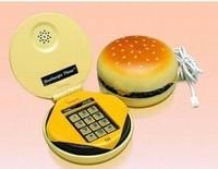 Lifelike hamburger telephone fashion mini household landline phone cartoon wired phone