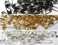 Free shipping Safety garment Pins shut needle hang tag pins clip black gold silver brooch 1000pcs/lot