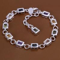 SPCH261 Free Shipping Fashion Bracelet Silver Jewelry jewellry  Charm Tag Chain Bracelets Brand New
