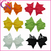 novelty 12 pieces/lot 6 inch cute swallowtail grosgrain ribbon boutique hair clips hair bow CNHBW-0137043
