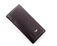 New arrive!Factory price +big discount leather man money clip long wallet organization with removable business card holder