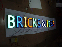 CUSTOMIZED outdoors illuminated  business logotype 3d led sign lighting sign letters channel letters
