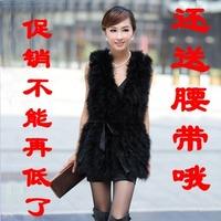 Fur coat medium-long 2012 vest fox fur vest women's top
