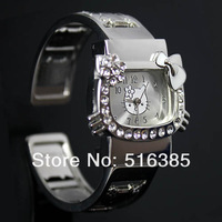 100% brand new women's watch fashion lovely hello kitty watch wholesale 20pcs/lot