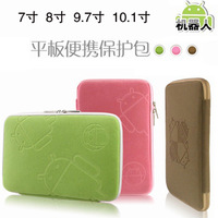 For apple    for ipad   mini n8000 p3100 cloth cover liner bag robot flannelet bag