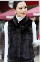 New arrival fur vest waistcoat faux mink hair vest