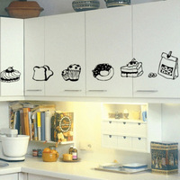 Mug-up fruit pie - cake dessert decoration wallpaper refrigerator kitchen cabinet wall stickers