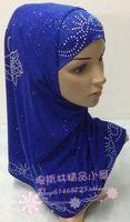 Solid Color  rhinestones twinset  muslim bandanas hijab hats kerchief