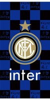 international  fans blue- black beach towel / rectangle bath towel / Inter Milan   cotton bath towel