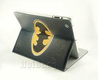 100% Original Brand Retro Cartoon Batman Ultra Thin Stand Leather Cases Sleep Cover For Mini Ipad Universal Handbags Shell S451