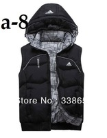 Men detachable cap cotton vest male vest leisure vest men down.    hgjnygkmg A175