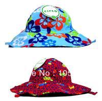 Fashion Girl's Flower Caps Summer Cap Children's Sunshine Cotton Animal Caps For Kids Hats Baby Cap Headgear