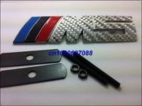 Tech M5 Blue Red Black Carbon Fiber Metal Hood Grill Badge Emblem Badges For Car Tuning Emblems With Package