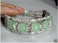Tibet silver turquoise jade bracelet/Armschmuck