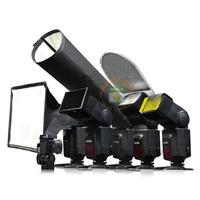 6in1 Flash diffuser kit light beam honeycomb grid soft box min reflector filters