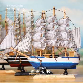 Sailing boat wood sailing boat model handmade sailboat decoration