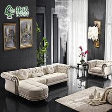 Lin first layer of leather furniture leather sofa living room sofa combination Continental Leather sofa Corner sofa 508(China (Mainland))