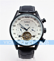 free shipping black dial automatic Multifunction 6 hands sport diving watches 2013 mens quartz watch jaragar new fashion
