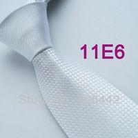Coachella Men's ties Solid Snow White Knot Contrast Grids Microfiber Woven Necktie Formal Neck tie for dress shirts Wedding