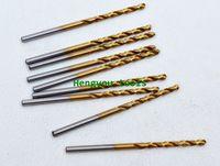 Fully Ground 10pcs 1.2mm Straight Shank titanium coating  HSS(M2) Twist drills Bits