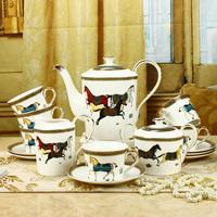 free shipping Fashion tea set 15 isonuclear allocytoplasmic coffee ceramic wedding gift box