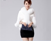 SALE 2012 faux fur wool cloak outerwear  FREE SHIPPING