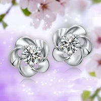 Free Shipping Fashion zircon plum earrings - spring Magic Girls shop 3e84 Crystal necklaces pendants