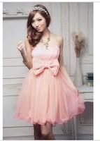 Short design dress princess dress bridesmaid dress one-piece dress bride  wedding dress