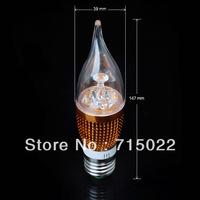 E27 4W White/Warm white High Power Bridgelux LED Bulbs Lamp Candle Light Energy Saving AC85-265V Free Shipping