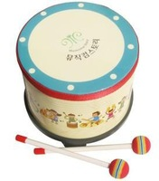 Genuine Orff instruments children Initiation Toy Drum Tambourine Educational toys Above 2 years old