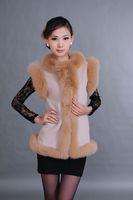 Hyraxes moben vest fashion fox fur vest brief formal cashmere vest