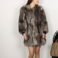 2012 long design fox fur outerwear