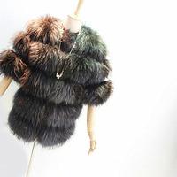 2012 raccoon fur outerwear fur coat short fur coat customize design