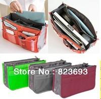 8 Color Nylon Travel Insert Handbag Organiser Purse Large liner Organizer Bag Cosmetic bag  Multi-purpose bag Mike