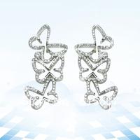 HME048 new styles silver 925 jewelry effect earrings flower design