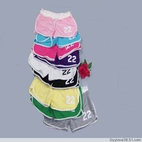 New candy color women summer sports beach shorts number Free shipping women's short pants