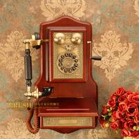 Paramount antique telephone fashion hanging 1907 solid wood antique telephone