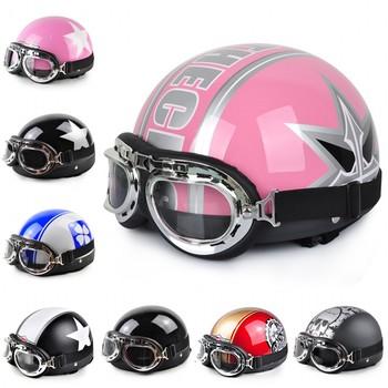2014 New Vespa Open Face Half Motorcycle & Motorcycle Helmet & Goggles & Visor XS S M L XL A1-A24