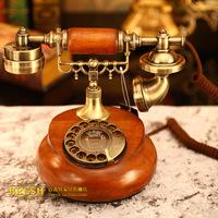 Vintage old telephone wood songzanganbu bookpass dial phone year