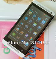 10pcs/Lot 4.7inch Dual sim One M7 MTK6589 Quad core 1.2GHz Andriod 4.2 1GB RAM 4GB ROM GPS 5MP 3G WCDMA 480x854 PX  smart phone
