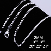925 Silver Chain-ACN15-fashion jewelry, Nickle free,Free shipping,wholesale 925 silver chain necklace,antiallergic,factory price