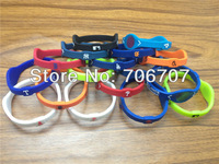 (NO BOX) wholesale 100pcs/lot PB MLB Team Bands power energy bracelet without boxes 17colors S M L in stock sports wrstband